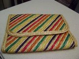 Ladies Summertime Colorful Straw Clutch Bag in Kingwood, Texas